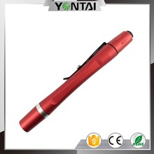 Durable cree xpe 100 lumen mini survival unique pen design led flashlight
