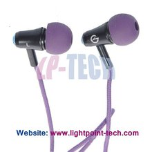 2012 Hottest selling In-ear Stereo Earphone with 3.5mm Jack 1.2m retractable Cable for MP3/MP4