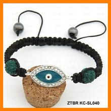 Moda mal ojo colgante Shambhala ajustable pulsera