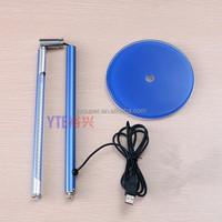 Foldable Portable 110V USB LED Energy Saving Table Desk Lamp with Glass Base, LED aluminum table lamp, LED metal table lamp