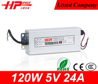 Guangzhou factory outlet best power supply 24 volt ac power supply constant voltage single output power supply 24v 5a
