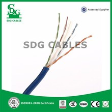 4 pair eight core lan utp cat 6 cable for indoor internet and outdoor