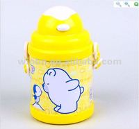 pop up button plastic and tinplate water bottle