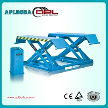 Mobile low rise hydraulic car lift for quick car service CE approve