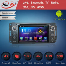 Pure Android 4.2.2 System Dvd Player For Car For Jeep Wrangler With Built-in WIFI BT OBD DVR