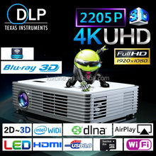 4K UHD Projector / Portable Mini Multimedia Projector / Mini Portable Laptop Projector