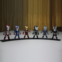 6x Ironman Light War Machine MK 2 3 4 Iron Patriot Action Figure 2ed Generation