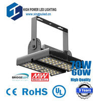 High quality 70W led high bay light, 70W led workshop light, highbay lights 70W USA Bridgelux led MW driver