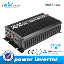 12v 220v dc to ac modified sine wave 1200 watt power inverter