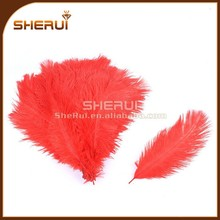 8inch Red Ostrich Feathers - Wedding Feathers - DIY Headband Feathers