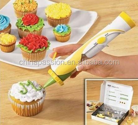 น้ำตาลปากกาdeco, ไฟฟ้าเค้กdecoretingปากกาเท่าที่เห็นในทีวี