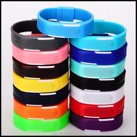 AD8088 New arrival led watch popular silicone rubber wristband watches