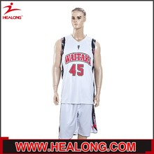 low price high quality college sleeveless shirt basketball uniform design for men