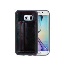 China Luxury high grade Leather Cell Phone Case for samsung S6
