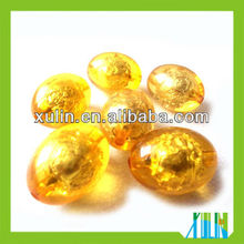 2013 fashion gold color round glass foil gold beads