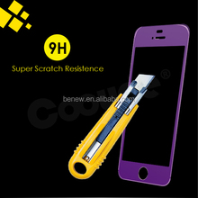 Factory price mobile phone 0.2mm/0.3mm color tempered glass screen protector for iphone 5