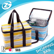 Custom Promotional Large Eco Friendly Polyester Thermal Bottle Wine Beer Cooler Ice Tote Bag