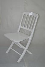 Hot sale white wood folding napoleon chair