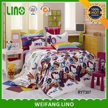 XMAS popular gifts Kids comforter set/hello kitte comforter/cat comforter sets