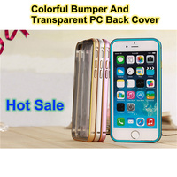 2 in 1 Case for phone 6 cover new design hot sale case cover for iphone 6 hard pc transparent case