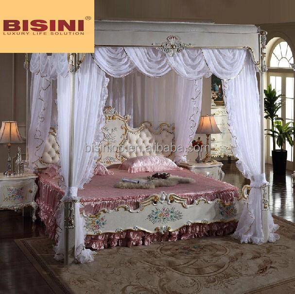 Italian Royal Bedroom Furniture Luxury Upholstered Canopy Bed Buy Luxury Be