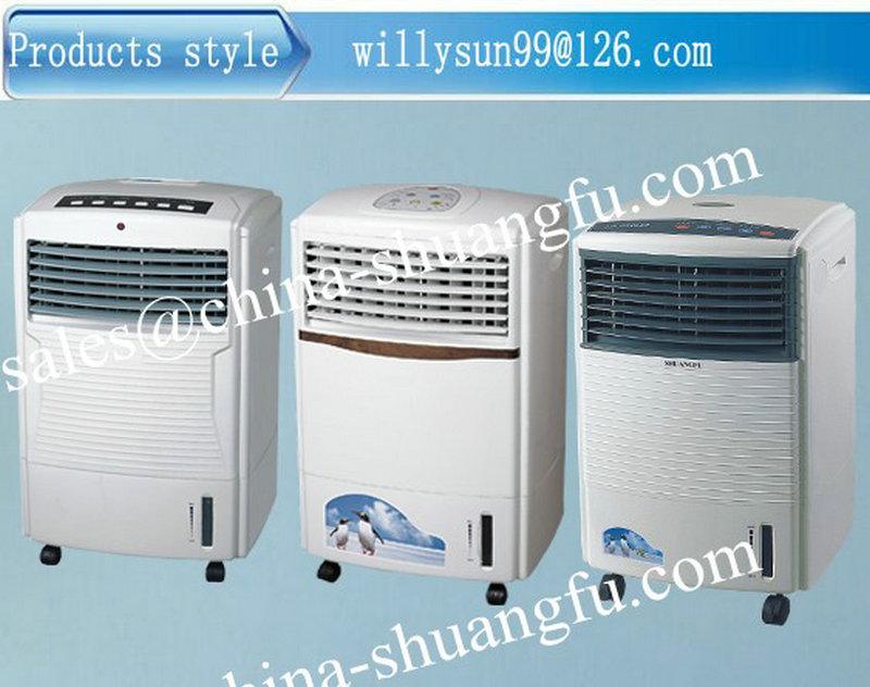 60 w avec 10l r servoir d 39 eau portable ventilateur lectrique avec de la glace portable. Black Bedroom Furniture Sets. Home Design Ideas