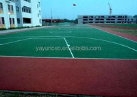 Acrylic tennis courts floorings covering
