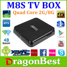 Hot selling of 2015 m8s High Quality Amlogic S812 Android TV Box OEM Factory