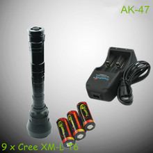Wholesale tactical led flashlights TrustFire AK-47 9 x Cre e XM-L T6 led flashlight with cheap price