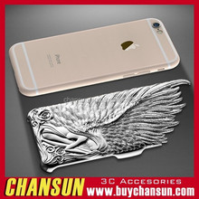 2015 hot selling mobile phone angel wing back case for iphone 6 plus