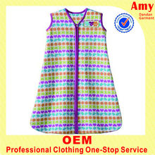 Fashin dress oem infant baby colorful stripe vest with long style sleep wear