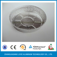 High Quality Recyclable Convenient Round Aluminum Foil Food Plate Food Plates