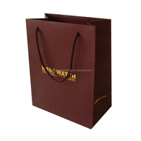 2015 factory directly custom high end gift paper bag for clothing with ribbon string