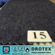 hotsale cotton low formaldehyde fire retardant denim fabric for coverall