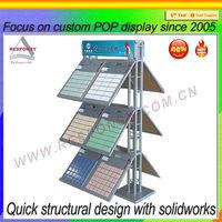 Customized floor wire rack tile showroom display