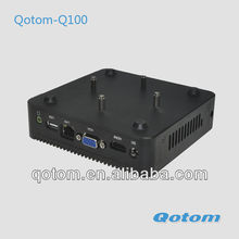 Thin client station,small mini computer,Qotom-Q100,professional desktop computer,windows 8 mini computer.