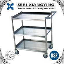 NSF Approval Stainless Steel Utility Cart