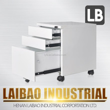 Laibao moving steel under-desk filling cabinet with three locker drawer
