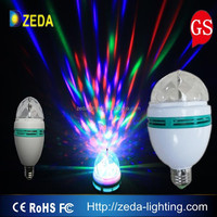 Eco friendly lighting 6W yellow plstic shell RGB crystal ball smart light bulb lamp