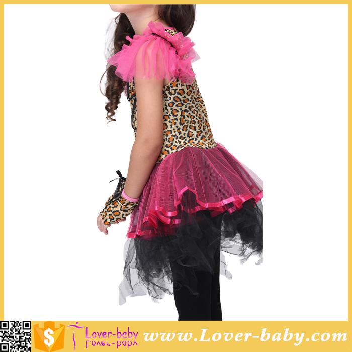 Kids Girls Animal Cat Costume Ballerina Leopard Cosplay