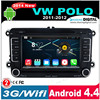 Andriod 4.4.2 support Google GPS online Navi VW Polo car dvd gps 2 din