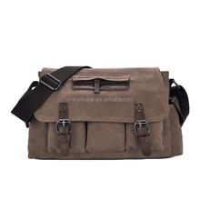 Cotton Canvas Cross Body Laptop Messenger Shoulder bag for Men