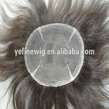 Sale top quality Toupee for Men with Synthetic Grey Hair
