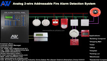 2-Wire Extendable Loops Addressable Fire Alarm Control Panel F or Fire Alarm System