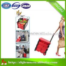 Splendid PP Plastic Folding Shopping Carts,Plastic Shopping Trolleys