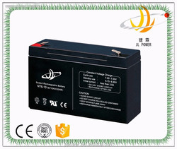 6V 10AH rechargeable deep cycle battery VRLA battery for UPS application