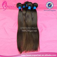 Precio de venta al por mayor de pelo virgen 100% brasileño virgen del pelo recto