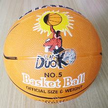 custom size 5 rubber laminated basketball