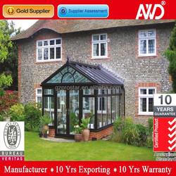 European style aluminum glass house for villas