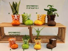 Potted plants creative manual flower pot mini ceramic flower pots